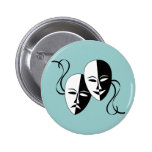 Comedy & Tragedy Masks Button