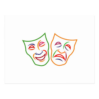 Comedy Tragedy Masks Postcard