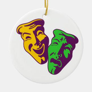 Comedy tragedy theatre comedy tragedy theatre christmas ornament