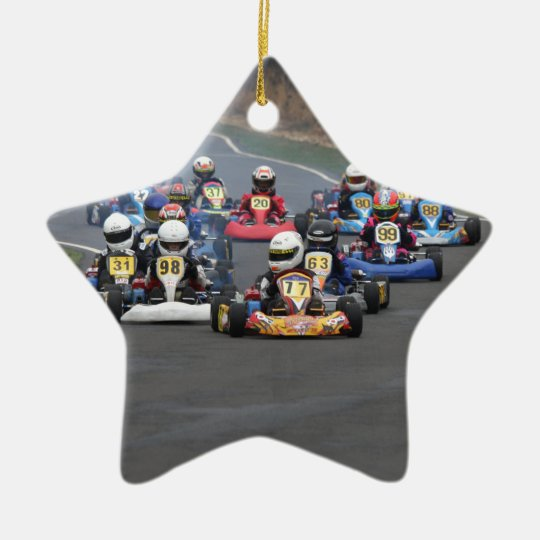 Comer cadet go karting kart race christmas ornament