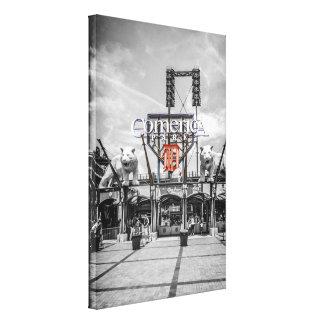 Comerica Park Baseball Stadium Detroit Gallery Wrap Canvas