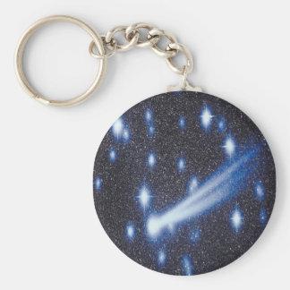 Comet and stars keychain