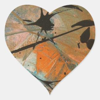 Comet astract design heart sticker