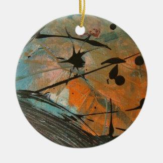 Comet astract design round ceramic decoration