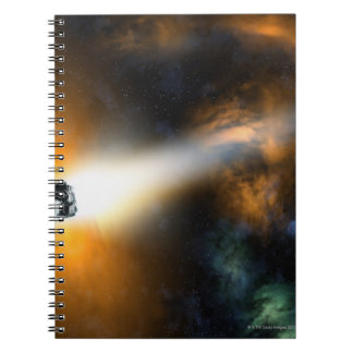 Comet descending through atmosphere note books