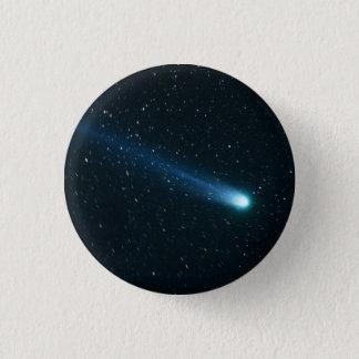 Comet in Night Sky 3 Cm Round Badge