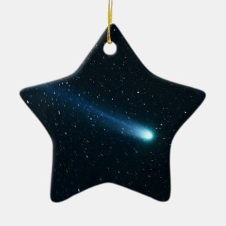 Comet in Night Sky Christmas Ornament