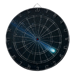 Comet in Night Sky Dartboard