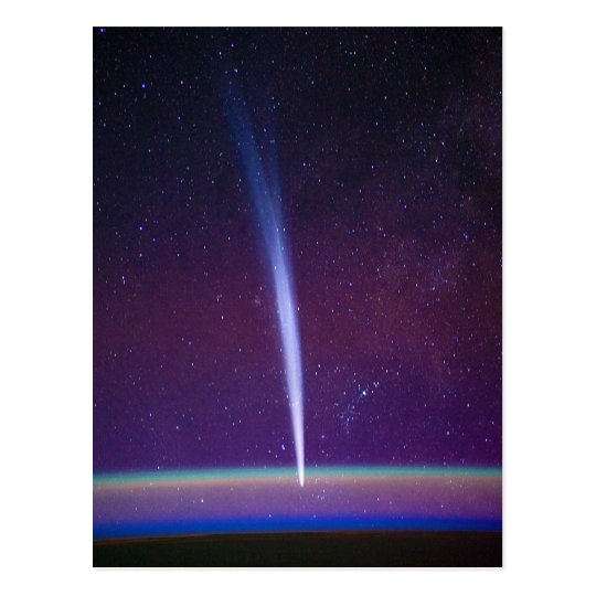 Comet Lovejoy Near Earth's Horizon Postcard