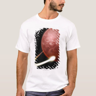 Comet Orbiting a Red Planet T-Shirt