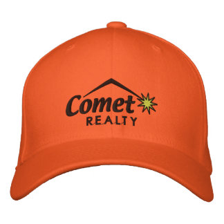 Comet realty - transparent embroidered baseball caps