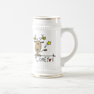 Comet Reindeer Christmas Tshirts and Gifts Beer Stein