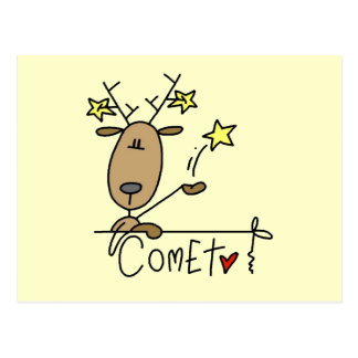 Comet Reindeer Christmas Tshirts and Gifts Postcard