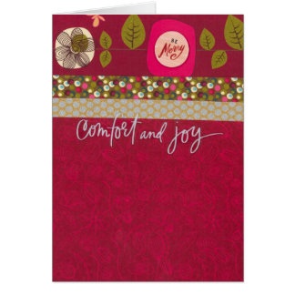 "Comfort and Joy (5"" x 7"") with envelope Card"
