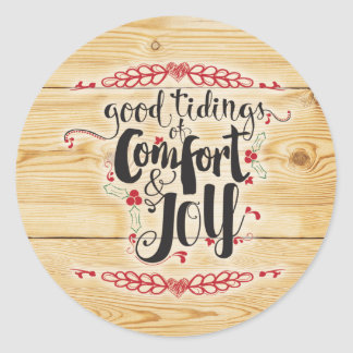 Comfort and Joy Christmas Sticker