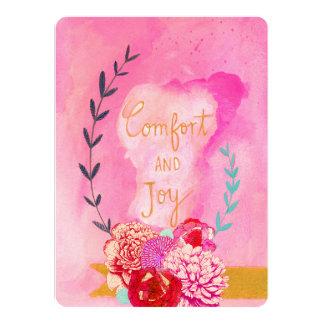 comfort and joy holiday card 14 cm x 19 cm invitation card