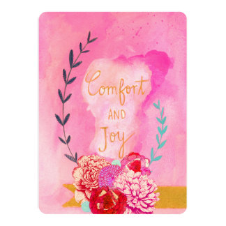 comfort and joy holiday card announcement