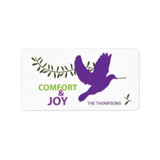 Comfort and Joy Holidayz Label