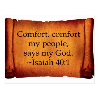 Comfort, Comfort My People Postcard