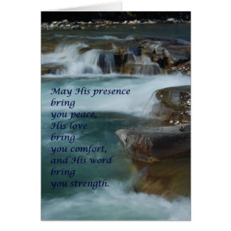 comfort greeting card, words of encouragement card