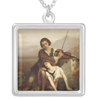 Comfort in Grief, c.1852 Silver Plated Necklace