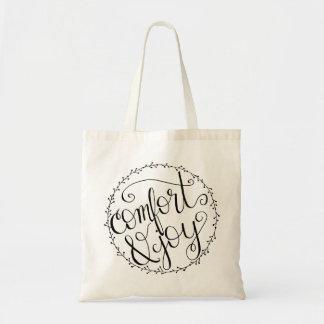 Comfort & Joy Hand Lettered Tote Bag