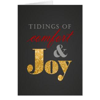 Comfort & Joy Holiday Greeting Card