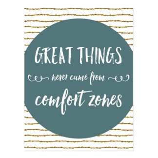 Comfort Zones Quote Postcard