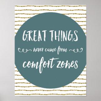 Comfort Zones Quote Poster