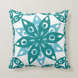 Comfortable in blue throw pillow