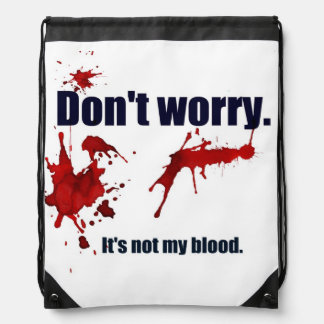 Comforting and unsettling. drawstring bag