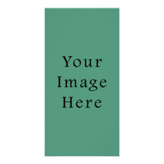 Comfrey Green Color Trend Blank Template Photo Cards