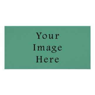 Comfrey Green Color Trend Blank Template Customized Photo Card