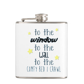 Comfy Bed, Funny Sleeping Quote Hip Flask
