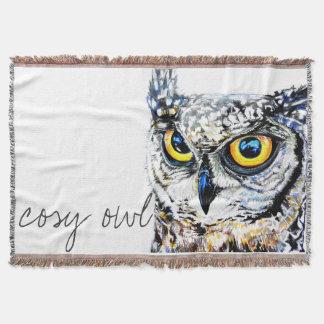 Comfy owl throw blanket