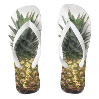 Comfy Personalised Pineapple Flip Flops