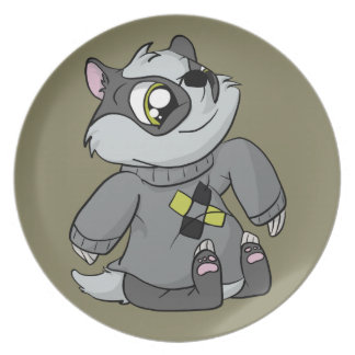 Comfy Sweater Badger! Plate