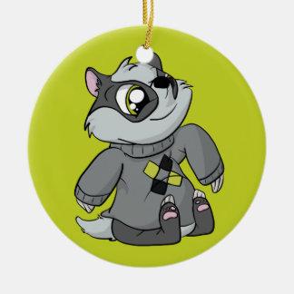 Comfy Sweater Badger! Round Ceramic Decoration