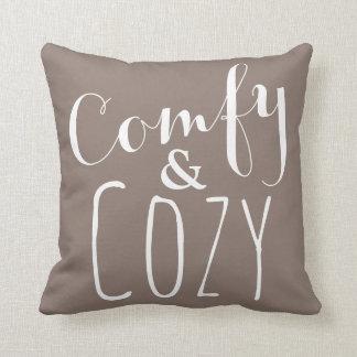 Comfy Throw Pillow - Earth Tone Brown Home Decor -