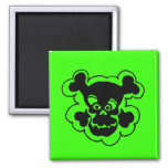 Comic 2 Inch Square Magnet
