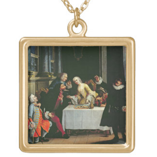 Comic Actors Gold Plated Necklace