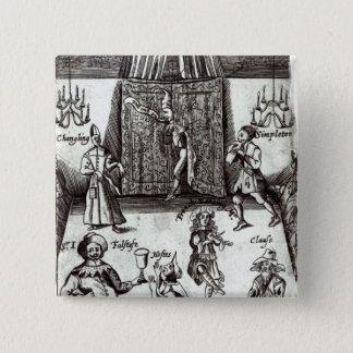 Comic Actors in Performance, 1662 15 Cm Square Badge