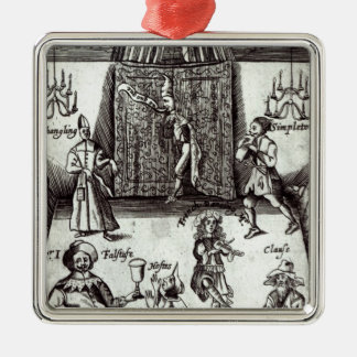Comic Actors in Performance, 1662 Christmas Ornament