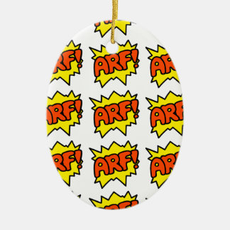 Comic 'Arf!' Ceramic Oval Decoration
