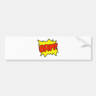 Comic 'Bam!' Bumper Sticker