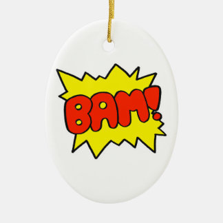 Comic 'Bam!' Ceramic Oval Decoration