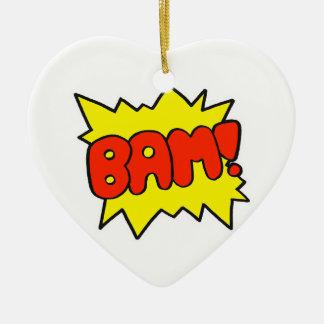 Comic 'Bam!' Christmas Ornament
