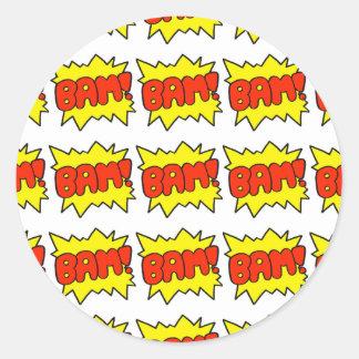 Comic 'Bam!' Classic Round Sticker