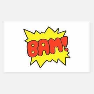Comic 'Bam!' Rectangular Sticker