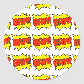 Comic 'Bam!' Round Sticker